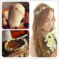Crystal Rhinestone Tiara Flower Headband Ribbon Wedding Bridal Hair Accessories