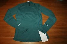 "NWT Lululemon ""Kanto Catch Me"" Long Sleeve Top MNLQ sold out 4 green shirt"
