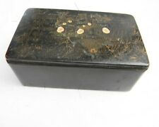 antique musical table top snuff box