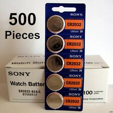 500 pc SONY CR2032 CR 2032 3V Lithium Batteries Expires 2026 NEW 500 Coin Cells
