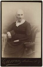 OLDER LADY IN NICE DRESS BY CURRAN, HERKIMER, NEW YORK, CABINET CARD