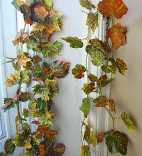 "4x100"" Autumn Grape Leaf Vines Artificial Ivy Garland Wall Decoration"