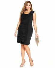 Size 20W Black Spense Cowl Neck Dress