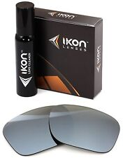 Polarized IKON Iridium Replacement Lenses For Oakley Holbrook LX Silver Mirror