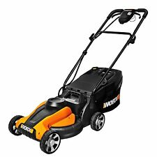 "WG775 WORX 14"" 24V Cordless Lawn Mower With Removable Battery"