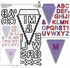 DOCRAFTS XCUT A4 DIE SET ALPHABET BUNTING LETTERS A-Z FOR BIRTHDAY ANNIVERSARY