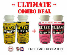 STRONG WEIGHT LOSS SLIMMING DIET PILLS - FMAX5 FAT BURNERS + RASPBERRY KETONES H