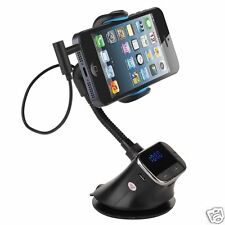 Smart Handsfree Windscreen Car Holder Charger FM Transmitter For Mobile Phone