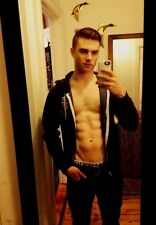 Shirtless Male Hunk Unzipped Hoodie Abs V Line Handsome Guy Jock PHOTO 4X6 C432