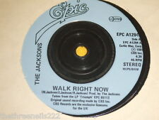 "VINYL 7"" SINGLE - THE JACKSONS - WALK RIGHT NOW - EPC A129"