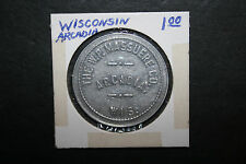 Vintage The W.P. Massuere Co Token Good For $1 In Merchandise Arcadia WI Variant