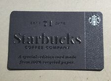 Starbucks Gift Card - 2017 Special Edition Recycled Paper