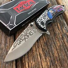 RAZOR TACTICAL Wildlife EAGLE Spring Assisted Open Pocket Knife Engraved Blade