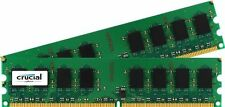 4GB Crucial DDR2 800MHz PC2-6400 CL6 Desktop Memory Dual Channel Kit (2x 2GB)