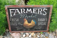 Chicken Rooster Egg SIGN*Primitive/French Country Farmhouse Kitchen Wall Decor