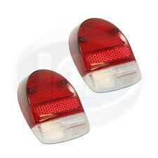 VW VOLKSWAGEN BEETLE BUG TAIL LIGHT LENS (CLEAR/RED/RED)  68-70 AC945115 PAIR