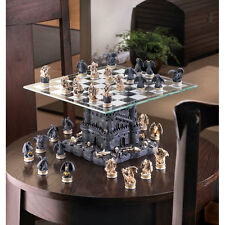 NEW Medievil Castle Statue DRAGON Collector CHESS SET Board Gothic Fantasy Gift