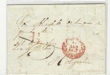 """Spain colonies: Cover 1847 cancelation in red """"Pto Principe to Holguin.CU21"""