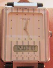 Tissot twotimer analogique/digil ss quartz D372660FX montre prof service 6 gtie wrrnty