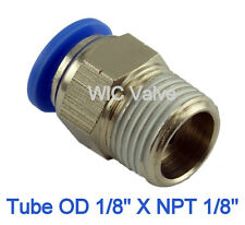 "5pcs Male Straight Connector Tube OD 1/8"" X NPT 1/8"" Push In To Connect Fitting"