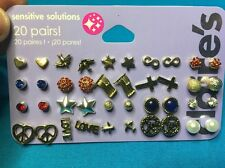 20 Cute Pairs Of Claire's Pierced Earrings For Girls Retail Was $19.50