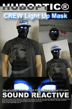Rave Mask - Crew Dancer Mask Robot Halloween Light Up Mask DJ Party Dance Mask