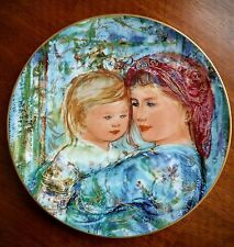 "The Edna Hibel Mother's Day Plate for 1991, ""Michele and Anna"""