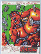2015 Marvel Avengers Age Of Ultron Full Color Red Hulk Sketch Card 1/1