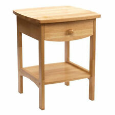 Small End Table Night Stands for Bedrooms Stand With Drawer 1 Bedside Table Wood