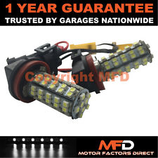 2X CANBUS BIANCO 6000K H8 60 SMD LAMPADINE LED FENDINEBBIA PER FORD C-MAX FIESTA
