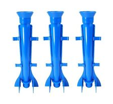 "Proops 3 x Long Tapered Rocket Shaped Candle Moulds 9.5"" Long. UK Made. S7574"
