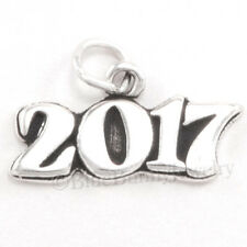 YEAR 2017 Graduation Celebration Horizontal Charm Pendant 925 Sterling Silver