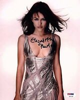 ELIZABETH HURLEY SIGNED SEXY 8X10 PHOTO! AUTOGRAPH! HOT! PSA DNA!