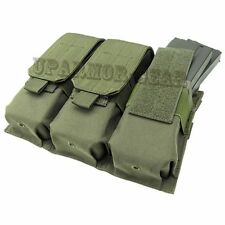 MOLLE PALS Triple 5.56 mm Rifle Mag Pouch close flap OD Green (CONDOR MA58)