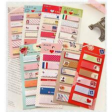 2Sets Cartoon Sticker Office Bookmark Marker Memo Index Tab Sticky Notes