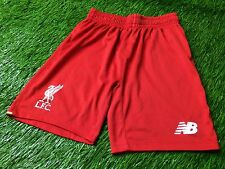 LIVERPOOL ENGLAND 2015-2016 FOOTBALL SHORTS HOME NEW BALANCE ORIGINAL YOUNG M
