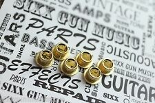 SGM Vintage Guitar Tuner Conversion Bushings, Adapter Ferrules 10mm Gold