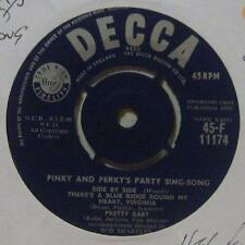 "Pinky & Perky(7"" Vinyl 1st Issue)Party Sing-Song Part II-Decca-F 11174-UK-Ex/Ex+"