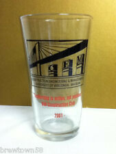 UWM Madison 2001 pint beer drink glass Construction Engineering MGT pub bar LX8
