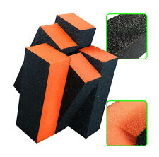 2 X Orange Nail Art Shiner Buffer Buffing Block Sanding File Nail Art Tips