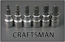CRAFTSMAN HAND TOOLS 6pc 3/8 dr METRIC MM Hex Allen key bit ratchet socket set
