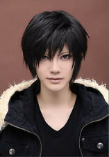 Man Cool Boys Kylin Hair Wig Mens Male Black Short Hair Cosplay Anime Wigs