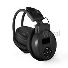 Kabellos Kopfhörer MP3 Player Stereo Headset micro SD Karte FM Radio schwarz S 1