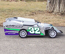 1/10 SCALE DIRT OVAL MIDWEST MODIFIED BODY KIT LOOSE TRACK CUSTOMWORKS ROCKET