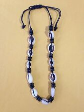 Cowry/Cowrie Shell Black Bead Adjustable Choker/Necklace