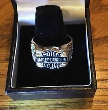 Men's 10k Yellow Gold Harley Davidson Ring with Black Hills Leaves 10.2gm S 10.5