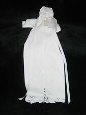 NEW CHRISTMAS TREE CHURCH DOLL WHITE LINEN LACE HANDKERCHIEF ON YOUR WEDDING DAY
