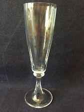 Daum Flûte champagne H 20,2 cm cristal translucide côtes plates Daum signée