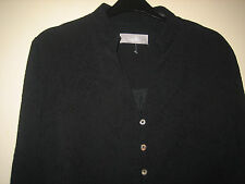 A LOVELY WOMENS BLACK WALLIS TOP  WITH SHOULDER PADS AND BUTTON FASTNER SIZE 14