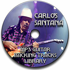 50 CARLOS SANTANA STYLE MP3 ROCK GUITAR BACKING JAM TRACKS CD LIBRARY ANTHOLOGY